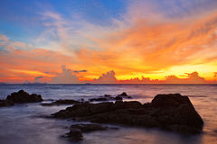 Sunset in the sea Royalty Free Stock Photo