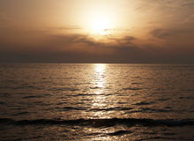Sunset in the sea Royalty Free Stock Photography