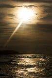 Sunset on sea Stock Image