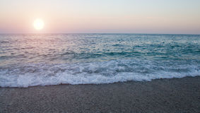 Sunset in the sea Stock Photos