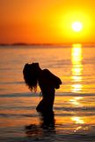 Sunset in the sea Royalty Free Stock Photos