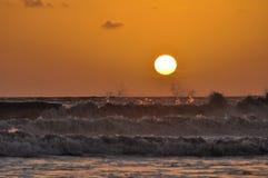 Sunset on sea Royalty Free Stock Photos