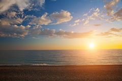 Sunset and sea Royalty Free Stock Photo