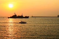 Sunset at Sea. Stock Image
