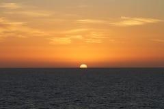 Sunset at sea Royalty Free Stock Photos