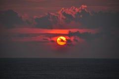 Sunset at sea. Sunset at arabian sea, calicut Stock Photography