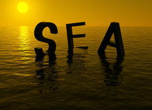Sunset sea Royalty Free Stock Photos
