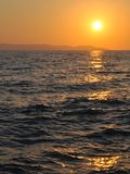 Sunset at adriatic sea in summer Stock Photo
