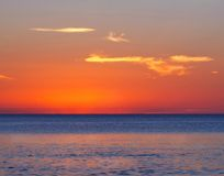 Sunset on sea Stock Photography