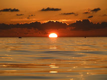Sunset on sea Royalty Free Stock Photo