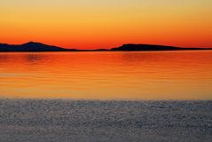 Sunset and sea Stock Image