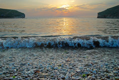 Sunset on the sea. Royalty Free Stock Photos