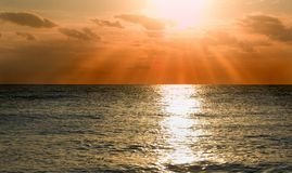 Sunset on sea Royalty Free Stock Image