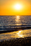 Sunset at the sea, Alanya, Turkey Royalty Free Stock Photo