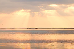 Sunset on Sea of Azov Royalty Free Stock Photography