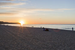 Sunset on sea Royalty Free Stock Image
