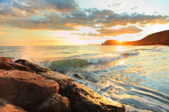 Sunset sea and beach Royalty Free Stock Photography
