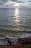 Sunset on sea beach Royalty Free Stock Photography