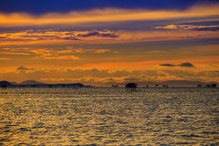 Sunset and Sea. Stock Photo