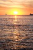 Sunset on a sea beach Royalty Free Stock Photo