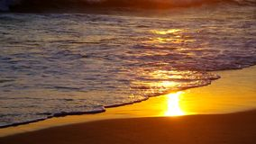 Sunset at the sea stock video footage