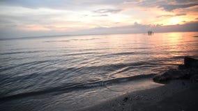 Sunset sea stock footage