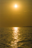 Sunset on the sea. Royalty Free Stock Image