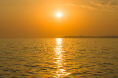 Sunset on the sea. Royalty Free Stock Photo