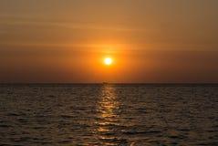 Sunset sea. Beautiful sunset over the sea Royalty Free Stock Image