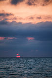 Sunset at the sea. Beautiful red sunset at the sea Royalty Free Stock Photo