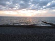 Sunset at sea. Sunset on the black sea Royalty Free Stock Photos