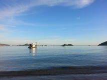 Sunset. Sea bluesky bluewater Stock Photo
