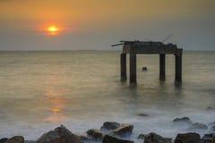 Sunset at sea Chonburi Stock Photos