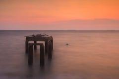 Sunset at sea Chonburi Stock Photo