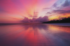 Sunset at Sea. Sunset on the coast of the Indian Ocean, Kenya Stock Image