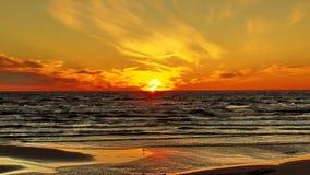 Sunset on sea coast Royalty Free Stock Photo