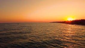 Sunset on the sea coast. Sunset on sea coast at summer stock video