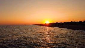 Sunset on the sea coast. Sunset on sea coast at summer stock video footage