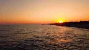 Sunset on the sea coast. Sunset on sea coast at summer stock footage