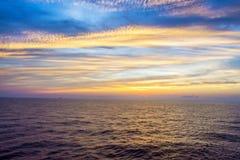 After Sunset at Sea Stock Photos