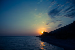 Sunset on the sea Royalty Free Stock Image