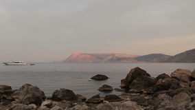 Sunset on the sea. Crimea, Ukraine stock footage