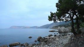 Sunset on the sea. Crimea, Ukraine stock video footage