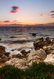 Sunset sea Croatia Royalty Free Stock Photos