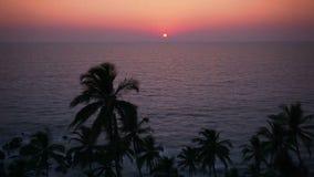 Sunset in the sea, Goa beach. Sunset in the sea timalapse in Goa, India stock video