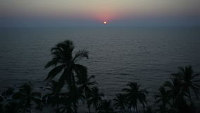 Sunset in the sea, Goa beach. Sunset in the sea timalapse in Goa, India stock video footage