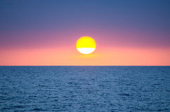 Sunset By The Sea Stock Image