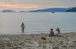 Sunset on the sea in Koh Lipe, Thailand royalty free stock image