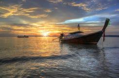 Sunset at sea, Krabi, Thailand Royalty Free Stock Images