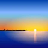 Sunset sea landscape Royalty Free Stock Image